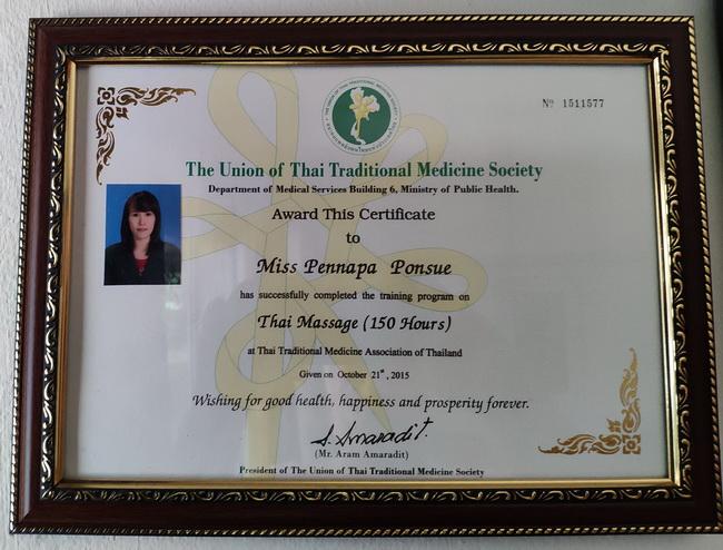 Thai Massage Certificate